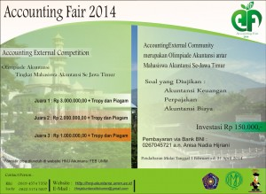 Pamflet Accounting External Competition
