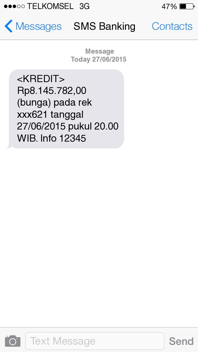SMS Banking #KasdanBank