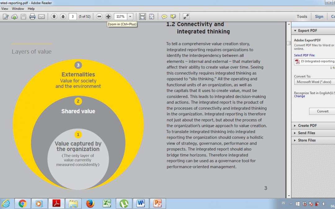 Integrated Reporting: Sebuah Pendekatan Baru dalam Pelaporan Nilai Perusahaan